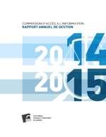 Rapport annuel de gestion 2014-2015