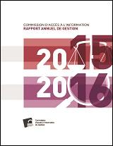 Rapport annuel de gestion 2015-2016